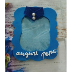 Tovaglia per compleanno party sfondo blu 130x180 cm