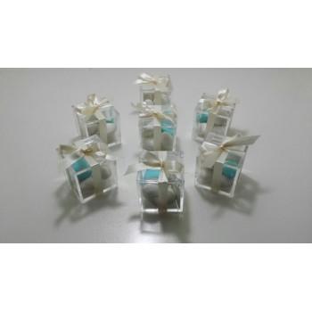 Contenitore / copri vaso in feltro con manici decorato con fiori