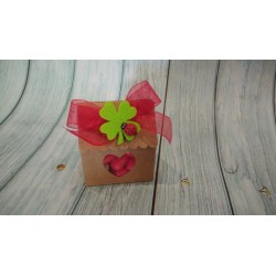 Set 15 decori legno bimbo bimba idea bomboniera decorazione legno rosa azzurro