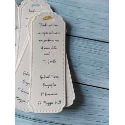 Scatolina porta confetti Casetta matalassè bianco Confezionata con cuore legno