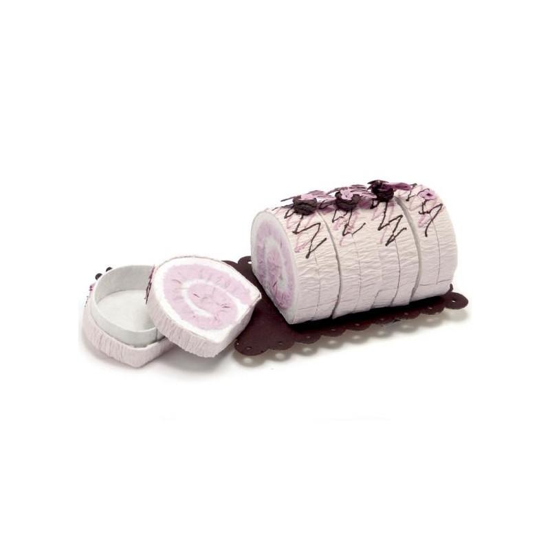 Set 12 Fiorellini in carta Bianchi/Rosa con stelo modellabile