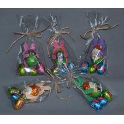 Set 5 pz Farfalla chiudi pacco decorazione ATELIER BABY ROSA pois