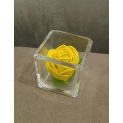 Rosa con contenitore vetro...