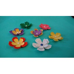Decorazione fiori Gomma...