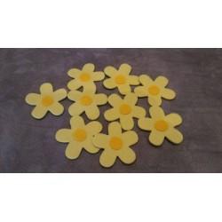 Stock 46 fiori panno 5 cm...