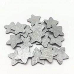 Set 25 stelle legno argento...
