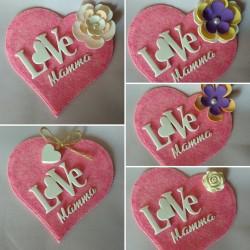 Targhetta handmade cuore...