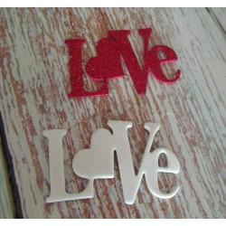 Fustellato scritta Love...