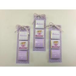 Stock 144 pz Bocciolo Bianco e rosa carta Bomboniere Bomboniera Rosellina