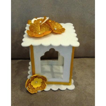 Set 10 pz Cuore perlato bianco cm1 decorazioni fai da te bomboniere cuoricini