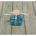 Set 10 SHOPBOX 10X5X14,5 cm Matelasse BIANCO SHOPPER bomboniere fai da te