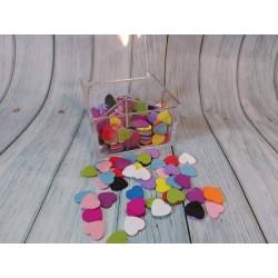 Cuori colorati legno 1.8 cm...
