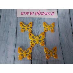 Set 5 farfalle gialle...