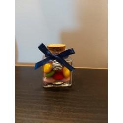 Bomboniera Sacchetto yuta con portachiavi animaletto Battesimo comunione