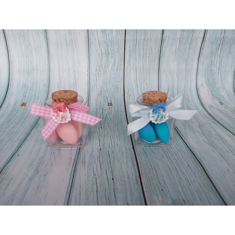 Set 4 Coniglietti decorativi pasquali in panno con adesivo e codino in confezione idea Pasqua