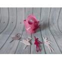 Sacchettino con stelo Body Orsetto Rosa Azzurro